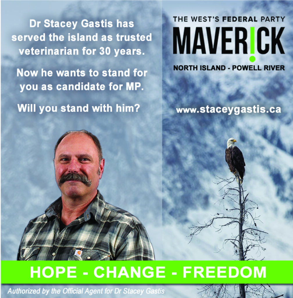 Dr Stacey Gastis Maverick Party North Island Powell River www.staceygastis.ca